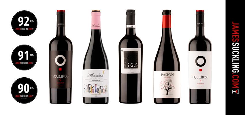 El crítico estadounidense James Suckling valora con sobresaliente cinco de nuestros vinos