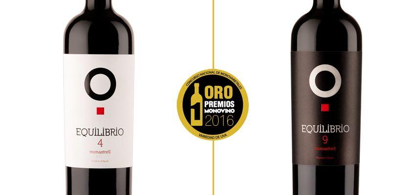 Equilibrio 4 y Equilibrio 9, medalla de oro en los premios Mono Vino