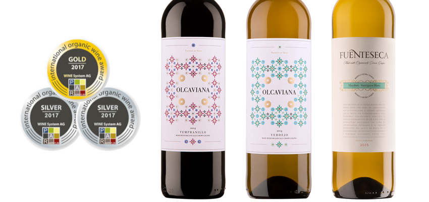 Olcaviana and Fuenteseca, winners in the International Competition of Ecological Wines