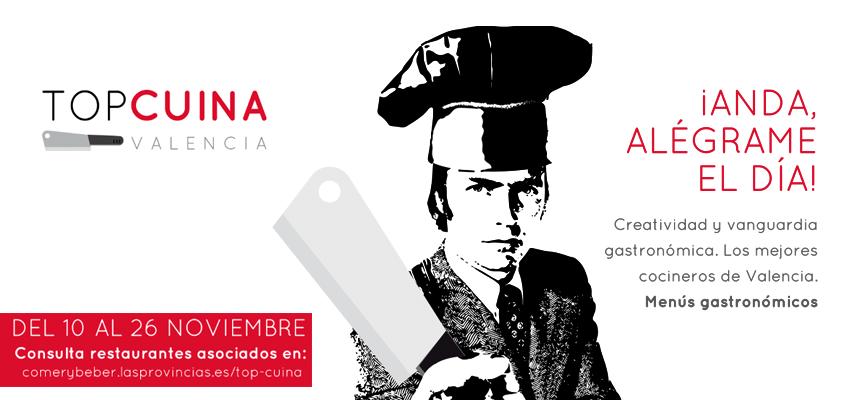 Maridajes de 10 en 'Top Cuina Valencia' – Del 10 al 26 de noviembre