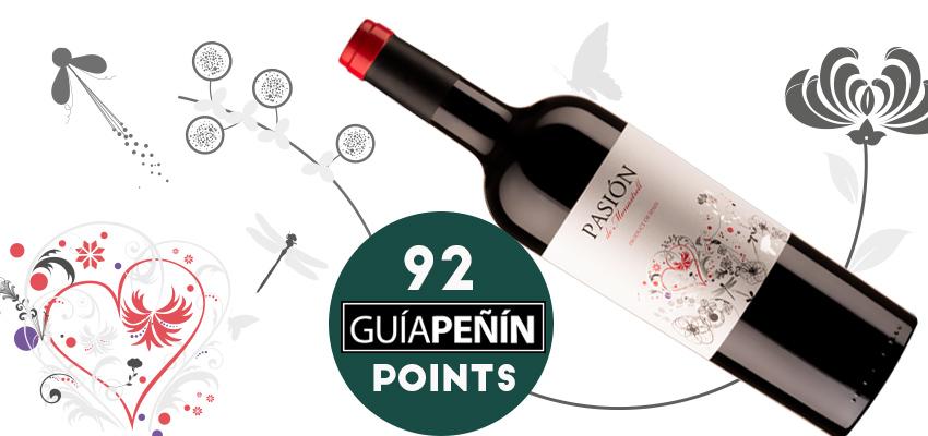 Pasión de Monastrell, 92 points and five stars in the Peñín Guide 2019