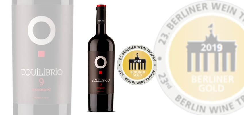 Oro para Equilibrio 9 en el Berliner Wein Trophy
