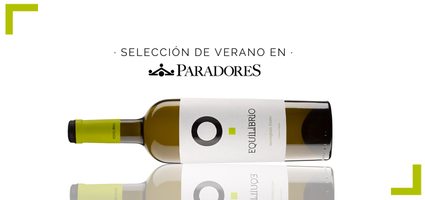 Equilibrio Sauvignon Blanc, selected by Paradores for the summer campaign