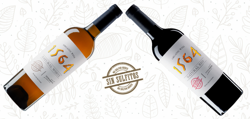We present you our natural wines without sulfites, one of them, an orange wine