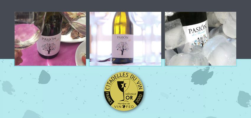 Pasión de Moscatel, medalla de oro en los premios Citadelles du Vin 2020